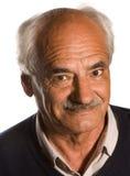 Älterer mit dem Schnurrbart Stockbild