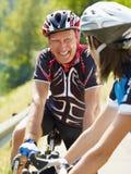 Älterer Radfahrer Stockbilder