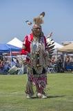 Älterer Tänzer des amerikanischen Ureinwohners Stockfotos