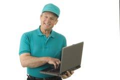 Älterer technischer Kursleiter Lizenzfreie Stockfotografie