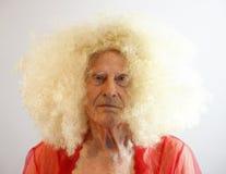 Älterer Transvestit Stockfoto