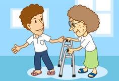 Älterer u. die älteren Personen Lizenzfreies Stockbild