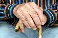 Älterer und Stock Stockfoto