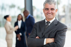 Älterer Unternehmensleiter Stockfotos