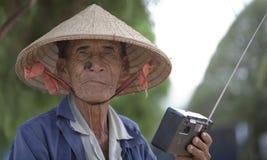 Älterer vietnamesischer Mann Lizenzfreies Stockbild