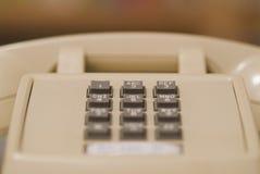 Älteres beige Telefon 03 Lizenzfreies Stockfoto