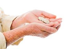 Älteres Bitten um Geld Lizenzfreies Stockbild