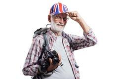 Älteres Fotografporträt stockfoto