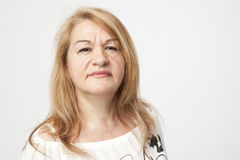 Älteres Frau portait Stockfoto