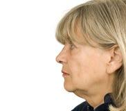 Älteres Frauen-Profil Lizenzfreies Stockbild