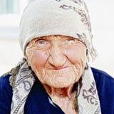 Älteres Frauenporträt Stockfotografie