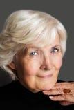 Älteres Frauenportrait stockfotografie