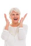 Älteres Frauenschreien lizenzfreies stockfoto