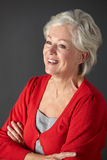 Älteres Frauenstudioportrait Lizenzfreies Stockfoto