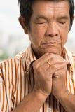 Älteres Gebet Stockbild