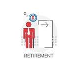 Älteres Geschäft Person Retirement Icon Stockfotos