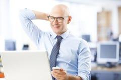 Älteres Geschäftsmannportrait Stockfoto