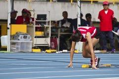 Älteres Leichtathletikspiel lizenzfreie stockfotos