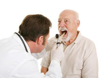 Älteres medizinisches - Facharzt für Hals- und Ohrenleiden Lizenzfreie Stockfotografie