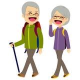 Älteres Paar-Klettern Stockfoto