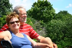 Älteres Paare relaxe Stockfoto