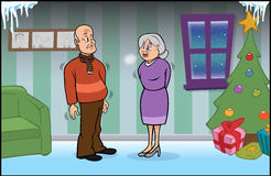 Älteres Paareinfrieren Stockfotos