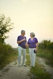 Älteres Paargehen Lizenzfreie Stockfotos