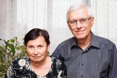 Älteres Paarporträt Stockfotos