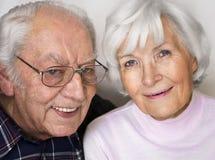 Älteres Paarportrait Stockbild