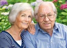 Älteres Paarportrait Lizenzfreie Stockfotos