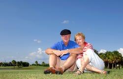 Älteres Paarportrait Stockbilder