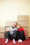 Älteres Paarschlafen Stockbilder