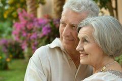 Älteres Paarstillstehen Stockbild