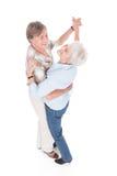 Älteres Paartanzen Stockfoto