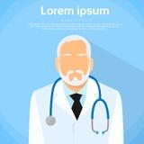 Älteres Porträt Arzt-Profile Icon Male Lizenzfreie Stockfotos