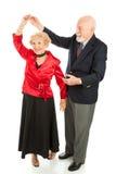 Älteres Tanzen - Rotation Stockfoto