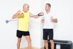 Älteres Training Stockfoto