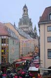 Älteste Deutschland-Weihnachtsmarktstraße Stockfotografie