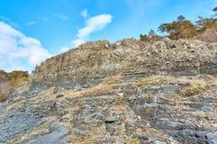 Älteste Felsenarten, von der Erde-` s prekambrischen Ära Stockbilder