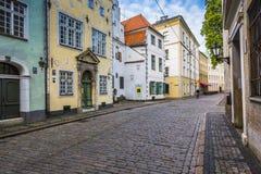Älteste Gebäude in Riga Lettland - die drei Brüder lizenzfreie stockfotografie