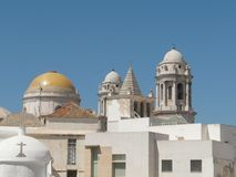 Älteste Kirche in Cadiz Stockbild