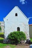 Ältestes mittelalterliches Handelshaus in Wyborg, Russland Stockbild