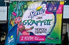 älva för grafittidriftstoppaffisch Royaltyfri Bild