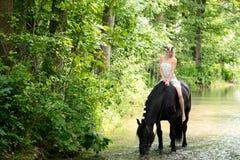 Älva och häst Arkivbilder