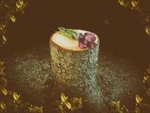 Älvaminnesmärke till cuted av träd Arkivfoto