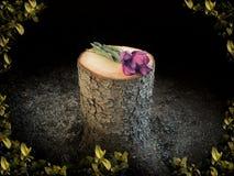 Älvaminnesmärke till cuted av träd Royaltyfri Fotografi