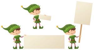 Älvas julmeddelande stock illustrationer