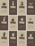 Ämne av te och kaffe vektor illustrationer