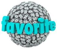 Ämne för trend för favorit- sfär för ordHashtag etikett bästa royaltyfri illustrationer