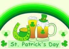 Ämnen av ett Sts Patrick dag royaltyfri illustrationer
